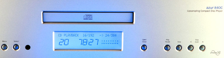 Front panel view of the Cambridge Audio Azur 840C CD Player
