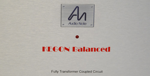 Audio Note Kegon mono block amplifier front panel