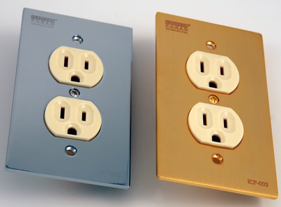 Isoclean ICP 003S wallet sockets in silver and gold plating