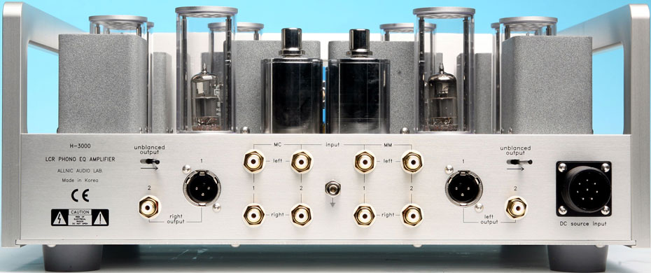 Allnic Audio H-3000 LCR Reference Phono Preamplifier Rear Panel