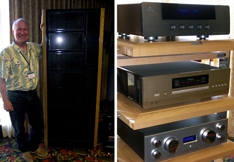 Bob Kehn of Audio Image Ltd. with Kingsound KingAMR CD-77.1; Accuphase DP-600 SACD Player; VAC Renaissance MkIII Preamp
