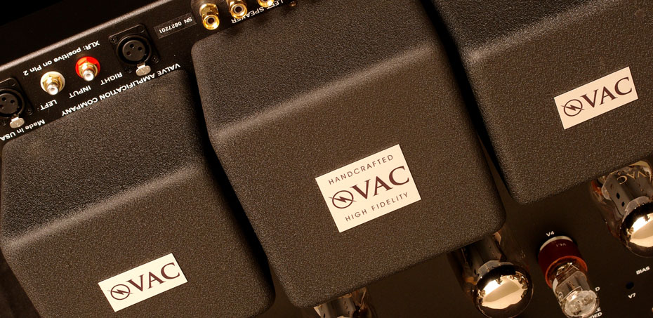 Rear top connects of the VAC Phi 200 vacuum tube monoblock power amplifier