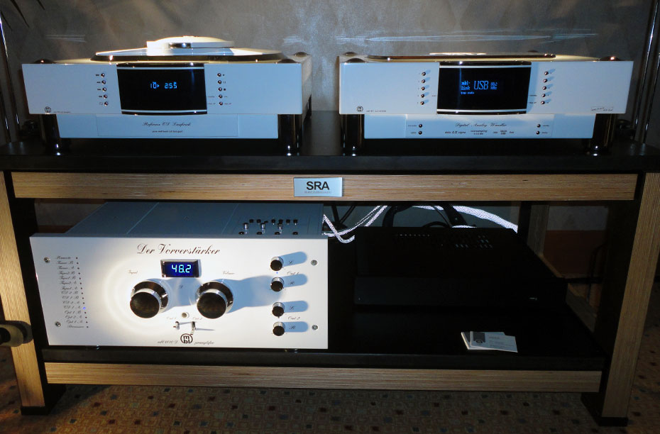 MBL 1621A CD Transport, 1611F D/A Converter, and 6010D Preamplifier