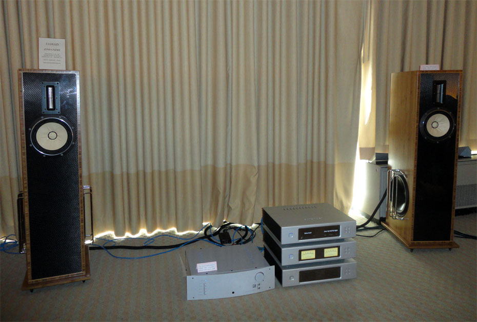 Widea Lab Aurender Reference Class Digital Music Server/Player with a Margules Audio integrated amplifier and Vaughn Zinfandel Speaker