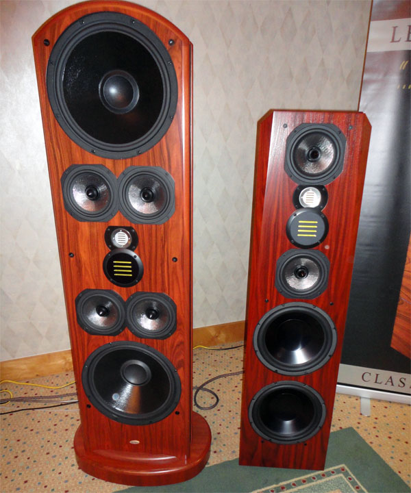 Legacy Audio Whisper XD and Focus SE (on right) speakers