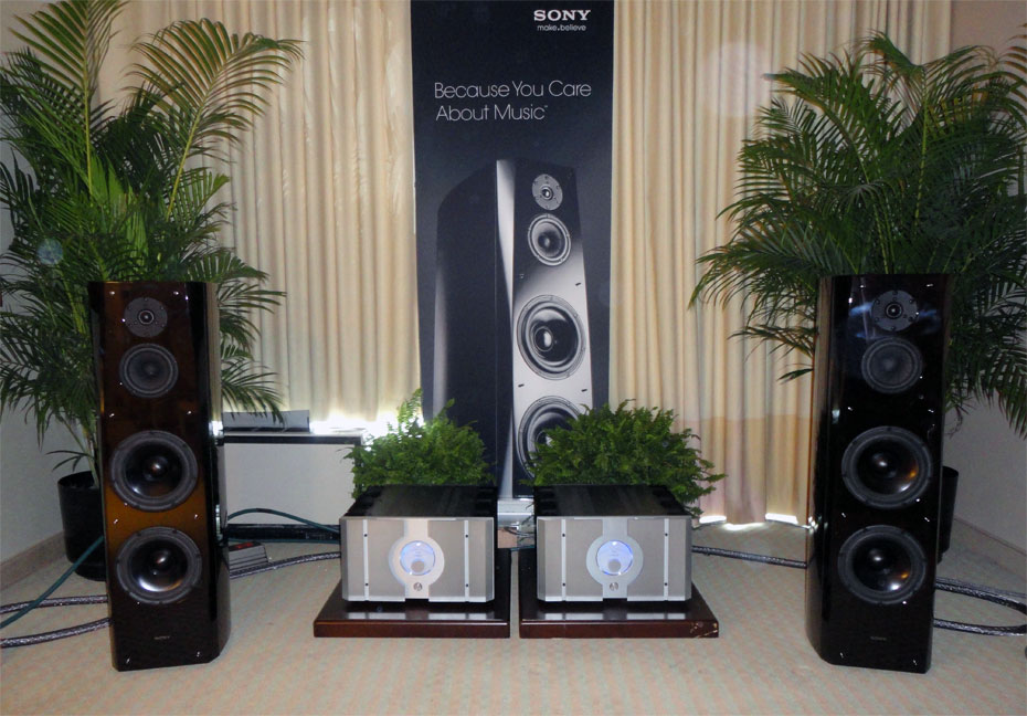 Sony SS-AR1 Loudspeaker and Pass Laboratories X600.5 amplifiers, with Kimber Kable cabling