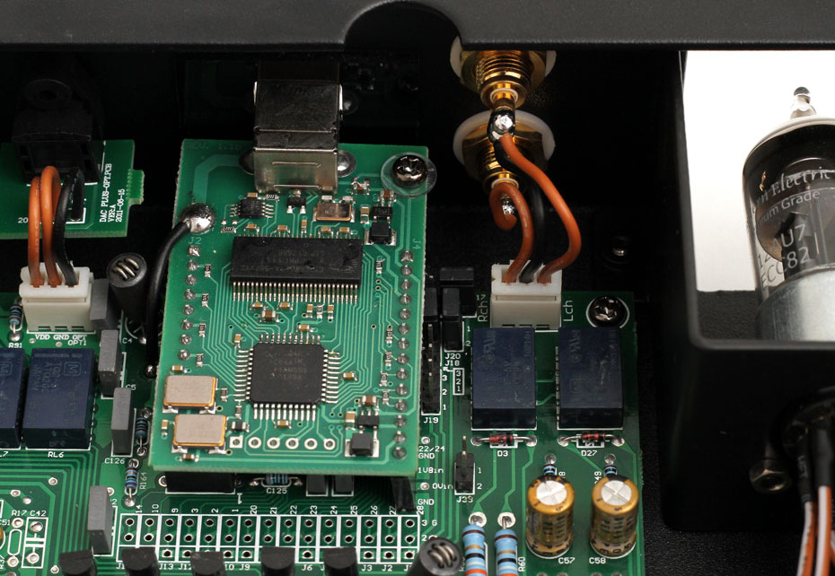 Inside the Eastern Electric Tube DAC Plus Digital-to-Analog Converter Rear Panel