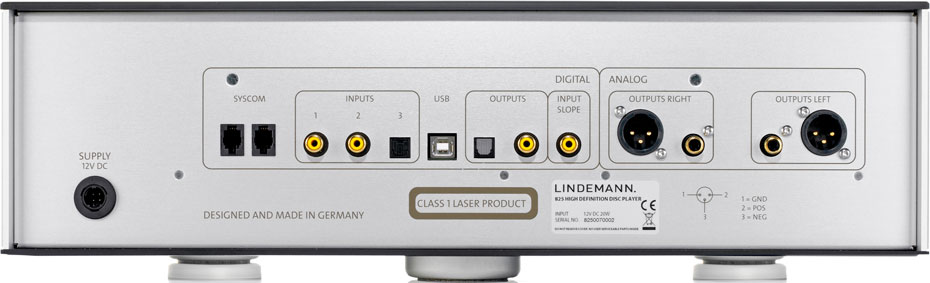 Lindemann 825 HD Disc Player Rear Face