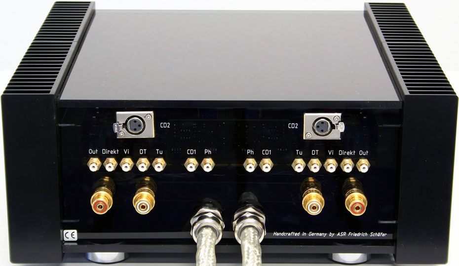 ASR Emitter I Exclusive Amplifier Rear Face