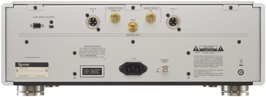 Esoteric P-02 SACD/CD transport Rear Face