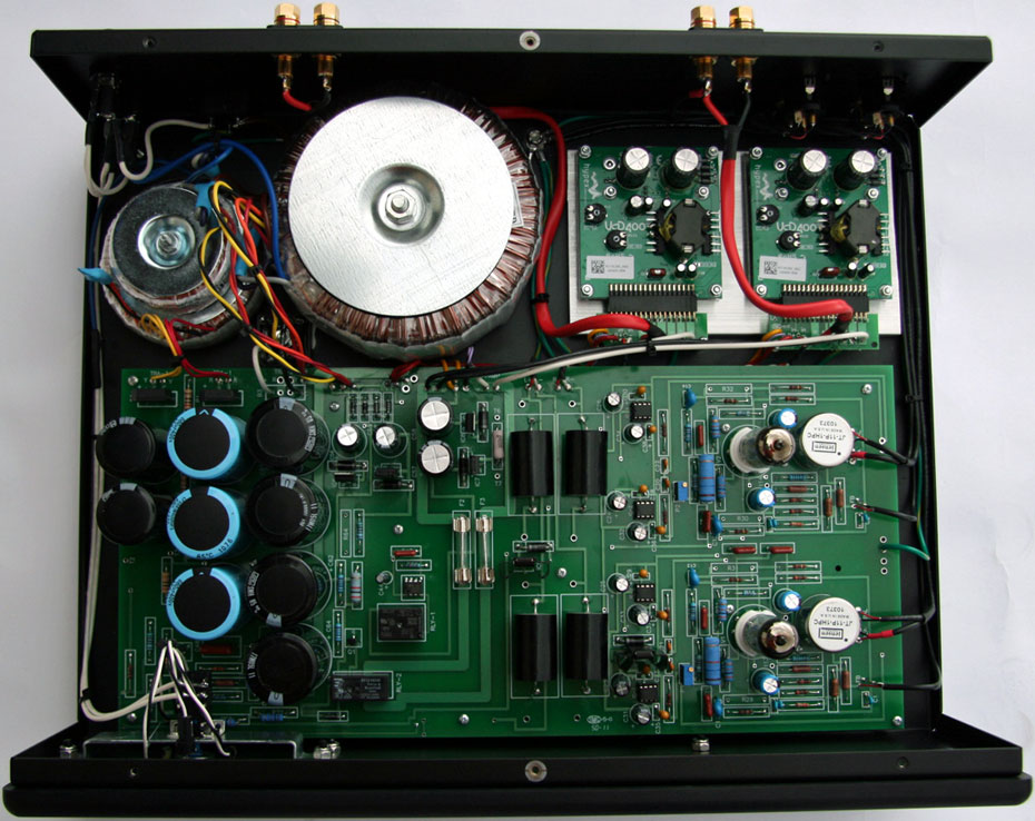inside the Rogue Audio Cronus integrated amplifier