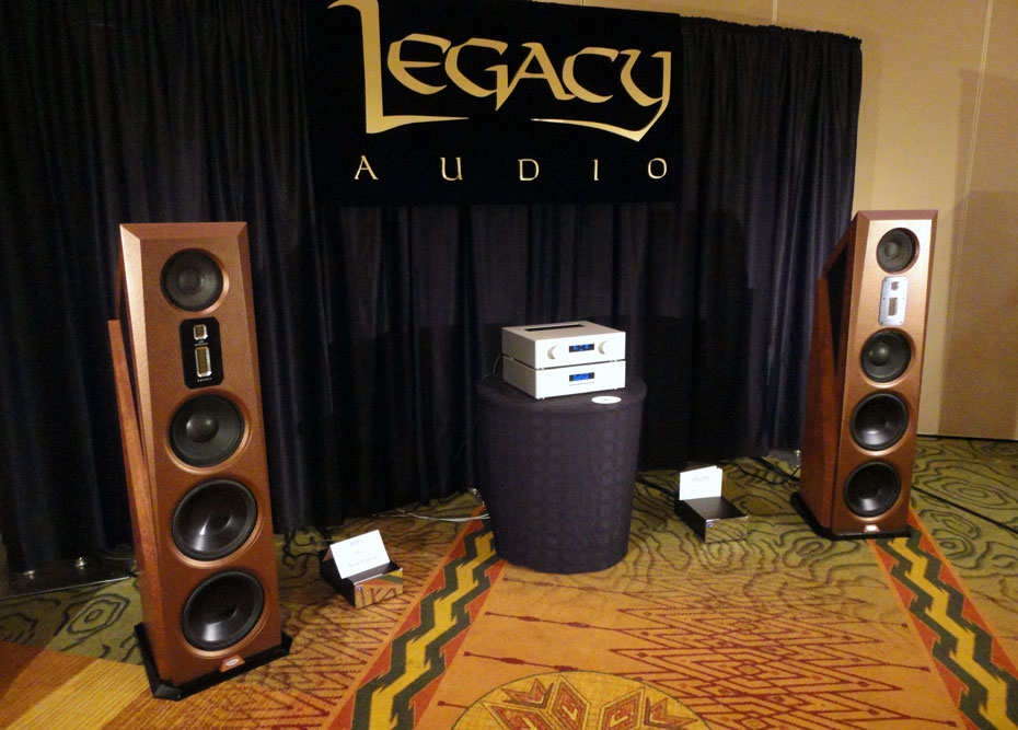 Legacy Aeris Speaker with AVM CD5.2 player, Evolution PA5.2 preamplifier and MA3.2 Monblock class D amps