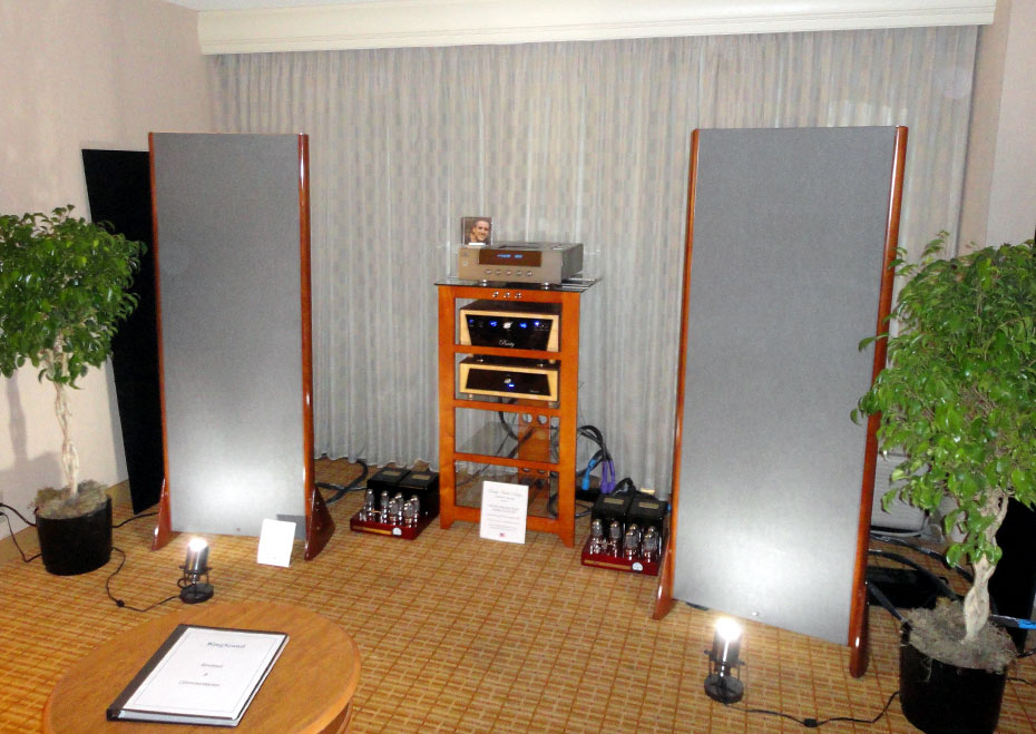 King Sound King III speakers with AMR CDP-77, Purity Audio Design Statement Preamplifier, Bob Carver Cherry 180 Amplifiers and Kaplan Cables