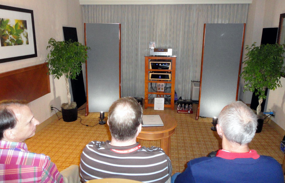 These men have more than 60 years of experience as Electrostatic speaker owners, auditioning the King III