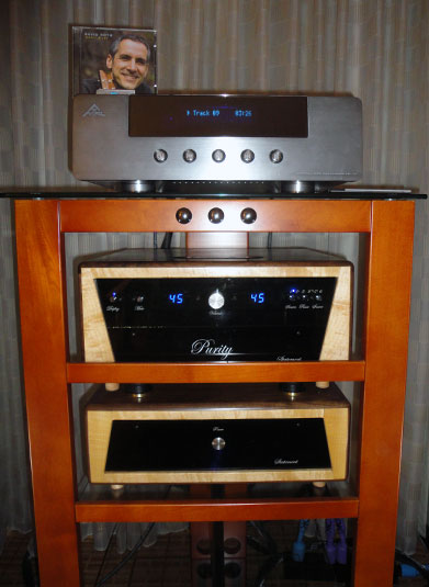 AMR CDP-77, Purity Audio Design Statement Preamplifier and Kaplan Cables