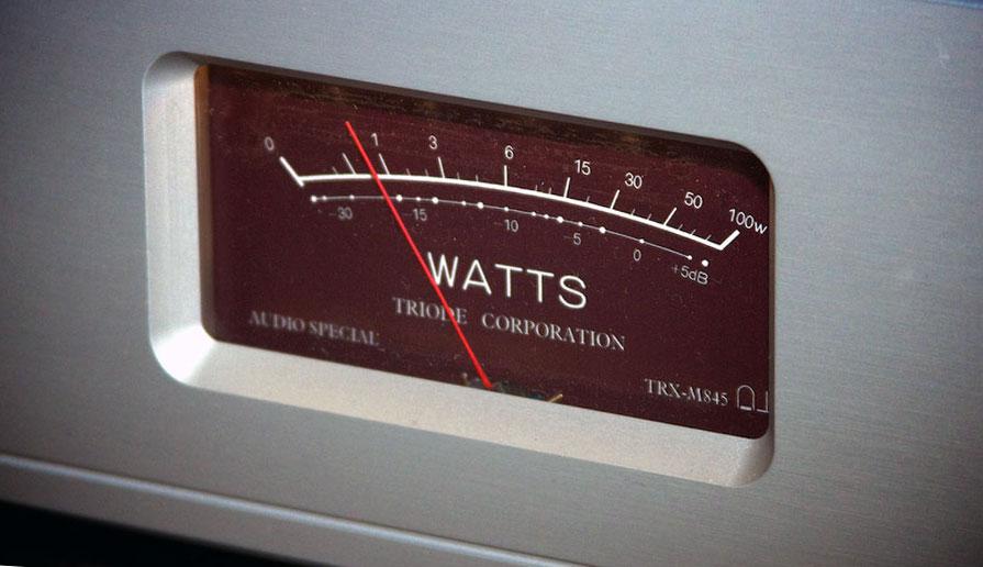 Triode Corporation TRX-M845 Monoblocks Tube Amplifier WATTS meter