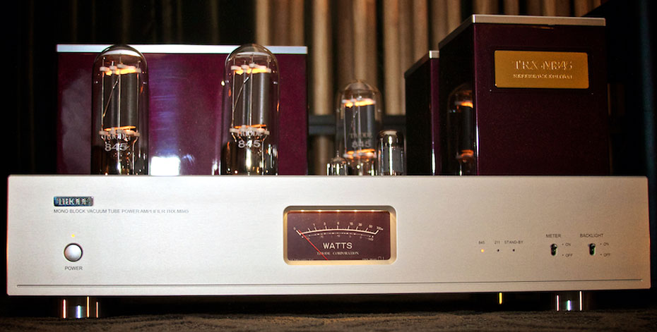 Triode Corporation TRX-M845 Monoblocks Tube Amplifier Name Plate