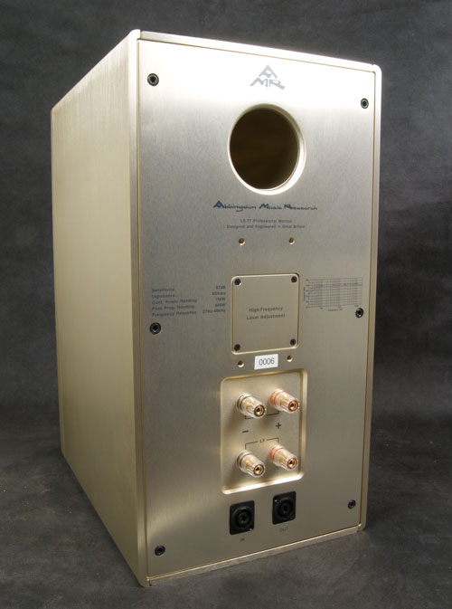 AMR LS77 Monitor rear view showing transmission line port and connections