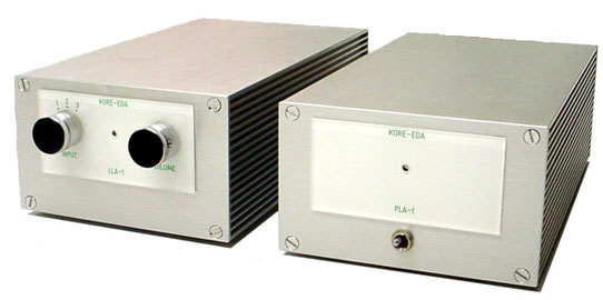 Kore-eda LLA-1 preamplifier and PLA-1 power amplifier