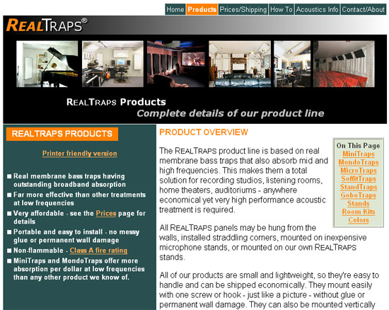 Real Traps Website Image