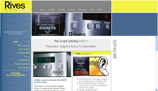 Rives Audio Website Image