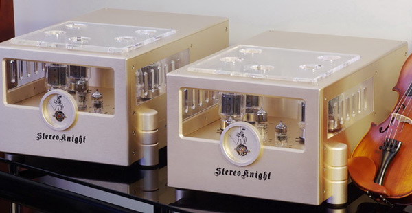 StereoKnight M75 mono block tube amplifiers