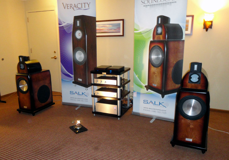 Salk Soundscape 12 speakers with Audio by Van Alstine Fet Valve Preamplifier, Fet Valve DAC and Fet Valve 600R Hybrid Amplifier