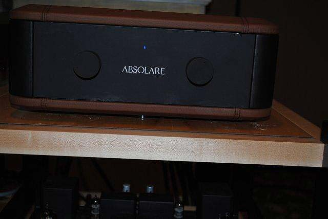 Absolare Passion preamp and 845 mono blocks at CES 2013