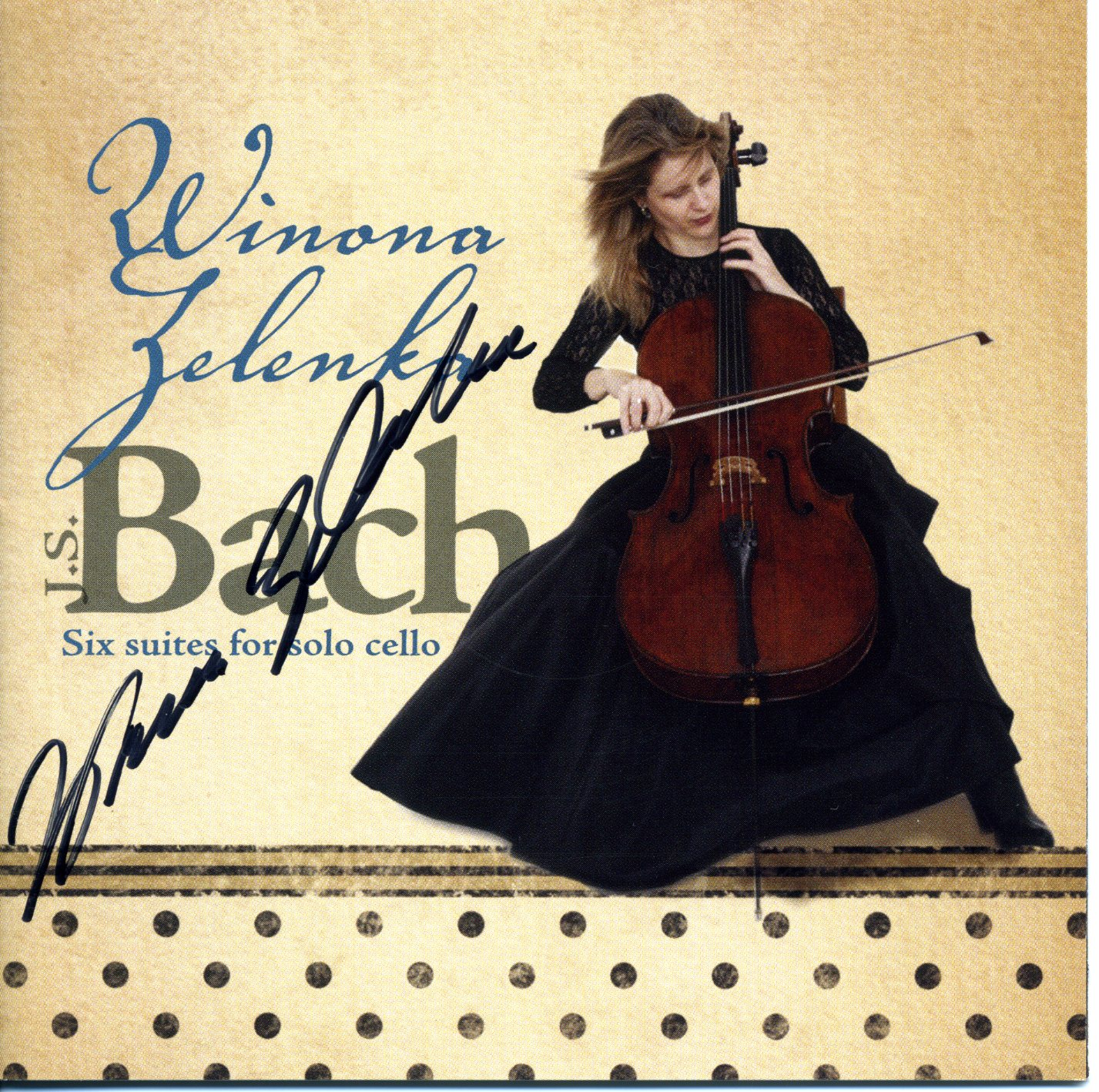 A 2-CD set of Bach's cello suites for the Marquis label, signed by Winona