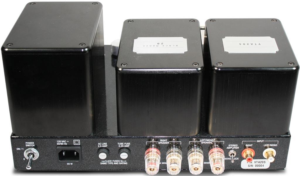 Bob Carver 'Black Magic' VTA 20S Tube Amplifier Back View