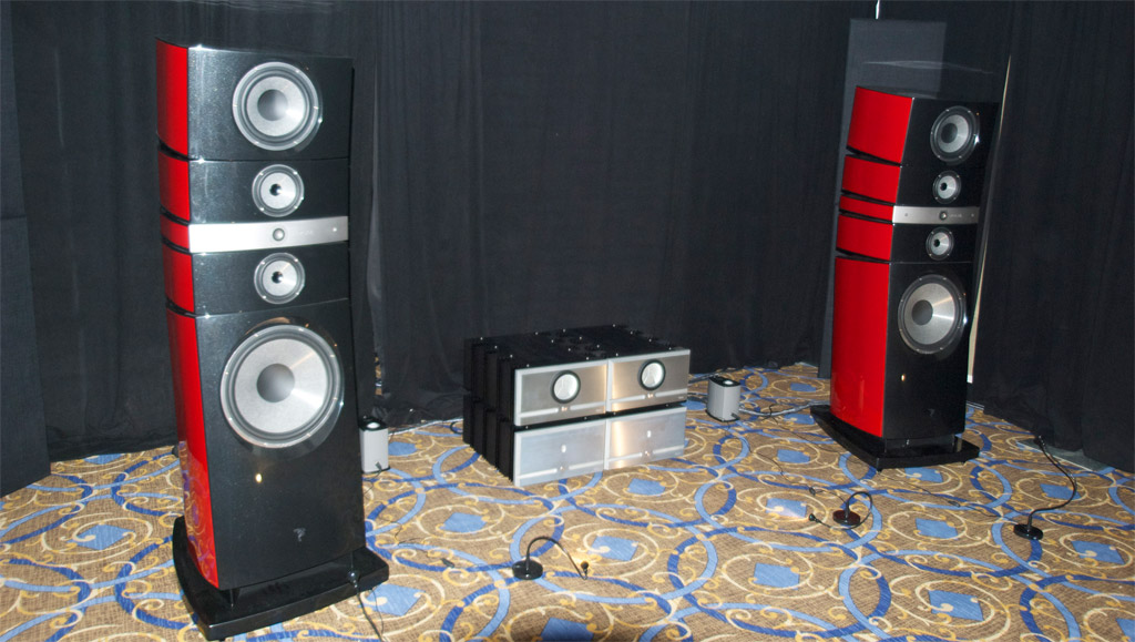 Focal Grand Utopia EM speakers and Pass Labs amps at Axpona 2013