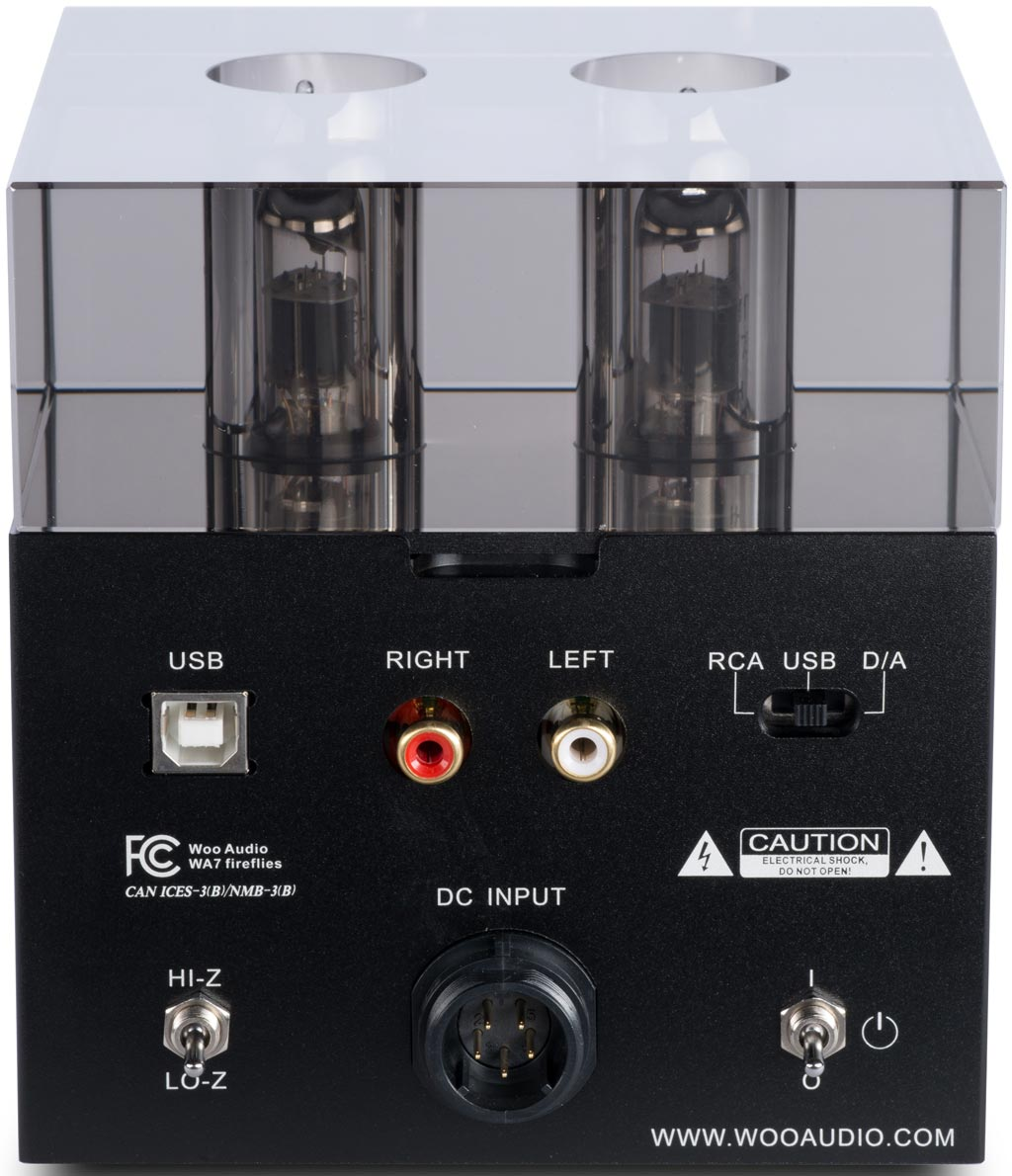 Woo Audio WA7 Fireflies Hube DAC Headphone Amplifier Back Panel