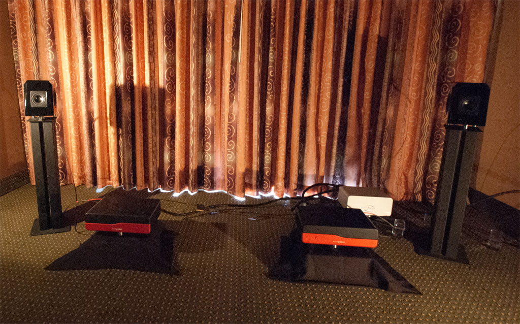 Audience ClairAudient 1+1 loudspeaker ($1,800) and NEW FOR SHOW Wavepower Amplifier