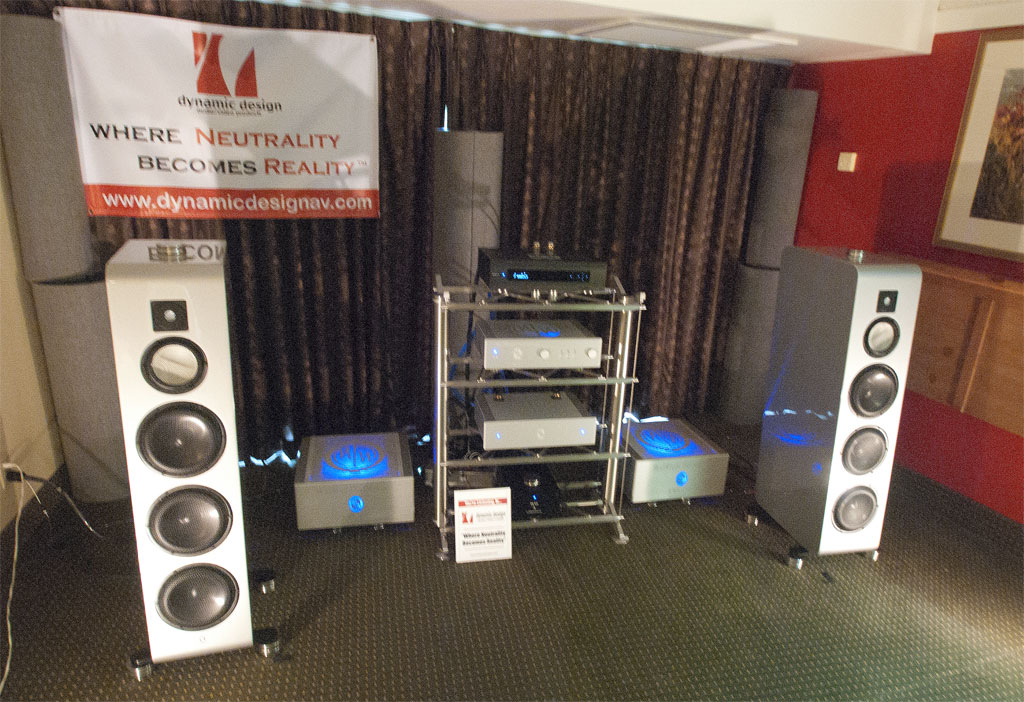 Dynamic Design AV (cables in the room and main room sponsors) - Marten speakers - Modwright Instruments - Stillpoints LLC - Annalyric Systems