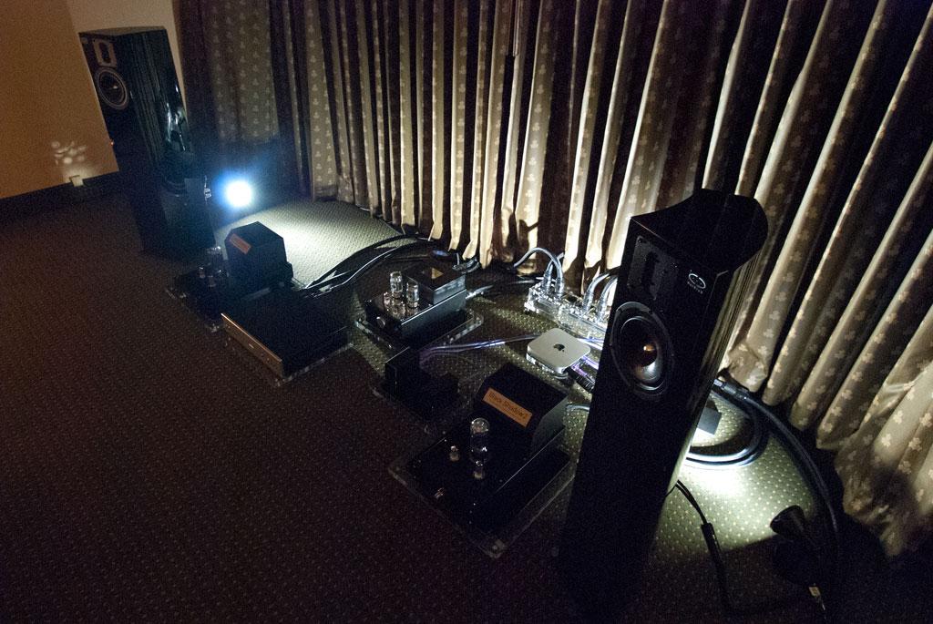 True Audiophile Audio Sterlin 120 preamp - Audio Black Shadow Class A 845 amp - Human Audio Tabla & Muto DACs