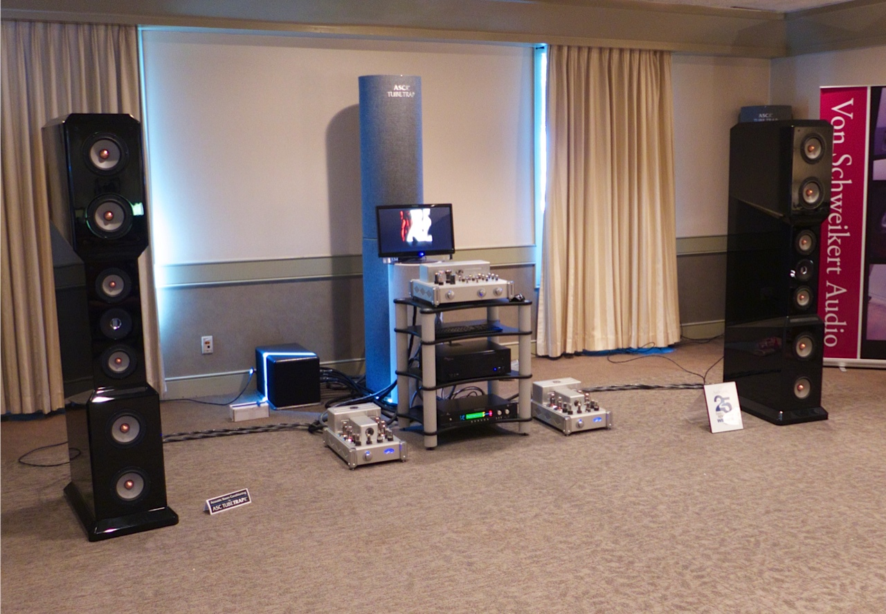 Raven amps and Von Schweikert Speakers sounding good.