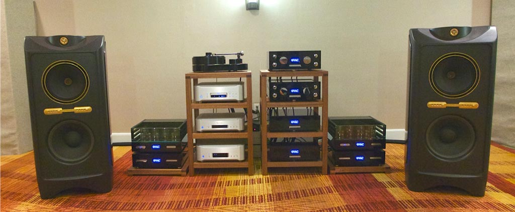 Tannoy Kingdom Royal speakers, VAC Reference Electronics and an AMG turntable with a Clearaudio Goldfinger Statement Cartridge