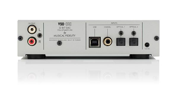 Musical Fidelity V90-DAC Rear View