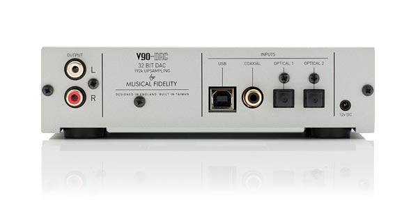 Musical Fidelity V90-DAC Rear View