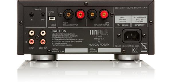 Musical Fidelity M1PWR Amplifier Rear View