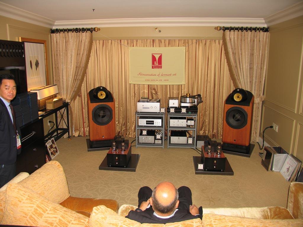 Audio Note of Japan - Kondo - B&W 801 speakers at CES 2014