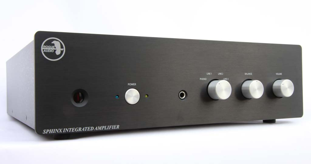 Rogue Audio Sphinx integrated amplifier front view