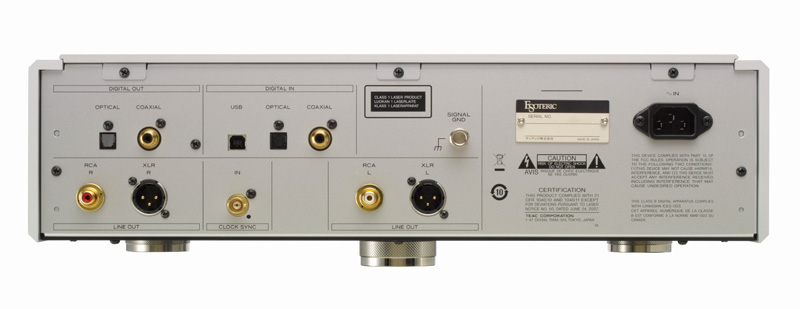 Esoteric K-05 CD/SACD Player & USB DAC Rear Panel View