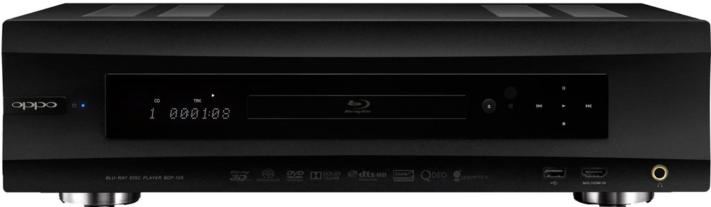 Oppo BDP-105 Blu-Ray front view