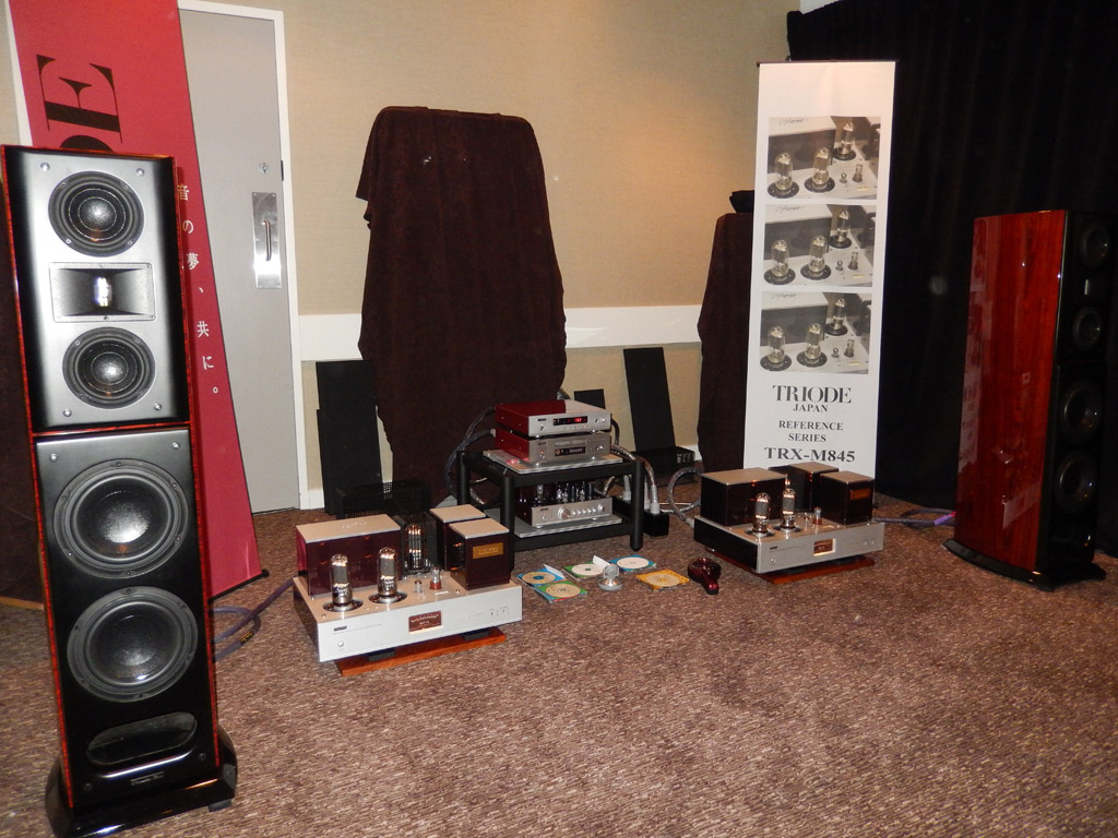 Acoustic Zen speakers and Triode corporation electronics at Axpona 2014