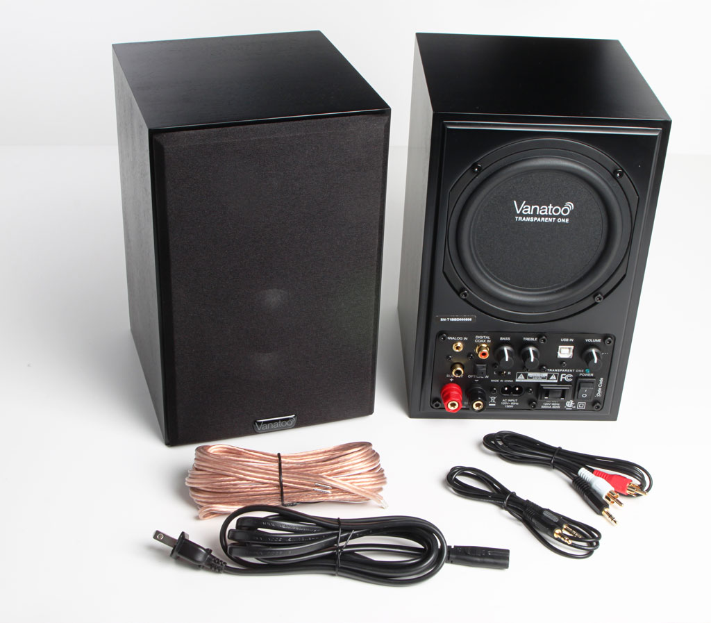 Vanatoo Powered Speakers with all box content