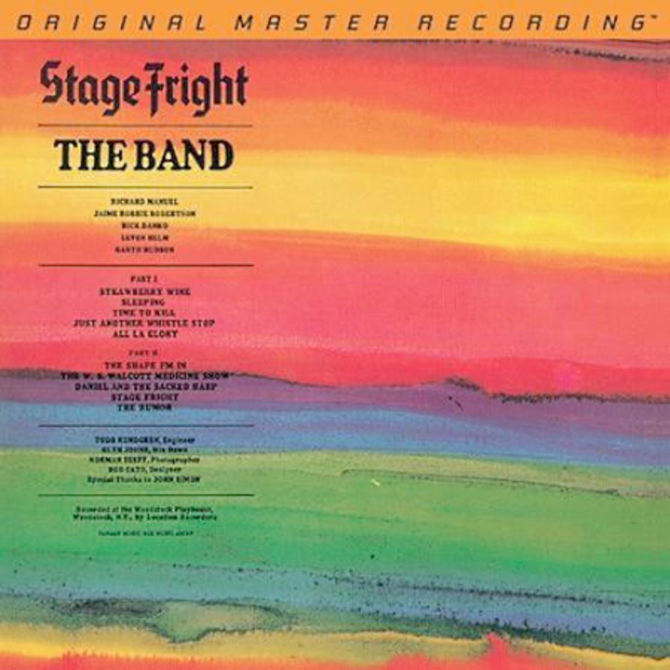 The Band Stage Fright - Mobile Fidelity 180 Gram Vinyl