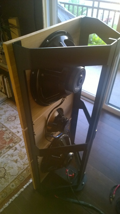 Trio15TB with Alu Frame Back View Open Baffle Speakers