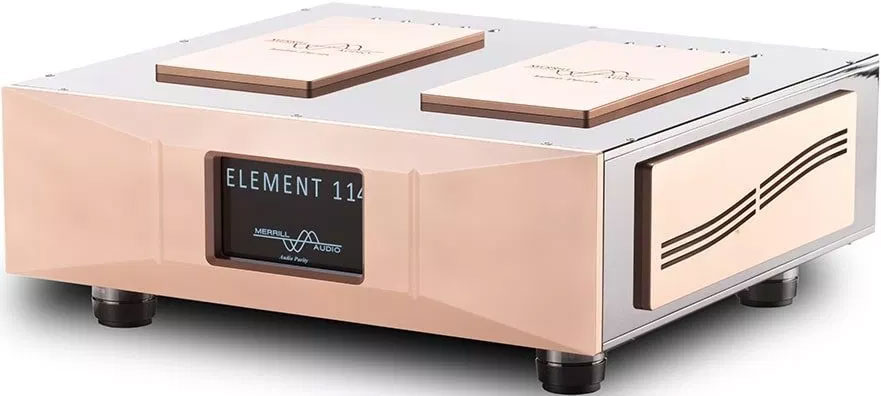 Merrill Audio Advanced Technology Labs unleashes Element 114 stereo power amplifier